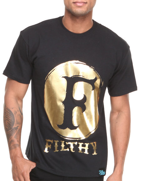 Filthy Dripped - Men Black Original Foil T-Shirt - $25.99
