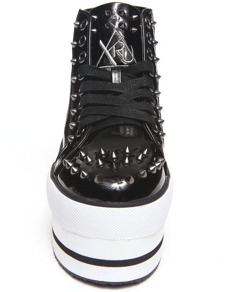 Y.R.U. Black Elevation Platform Sneaker