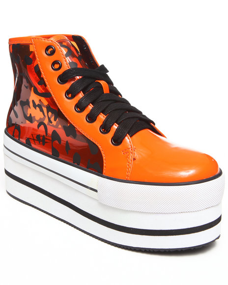 Y.R.U. - Women Orange Elevation Platform Sneaker