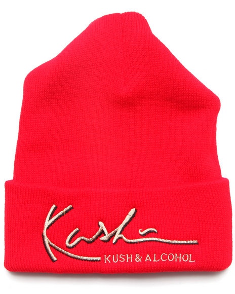 Community 54 Presents Kush & Alcohol Beanie Red