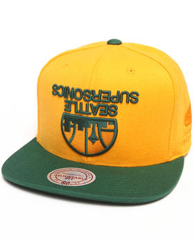 Hall of Fame - Hall of Fame x Mitchell & Ness Sonics Upside Down Snapback Cap