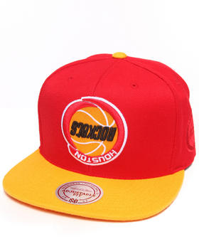 Hall of Fame - Hall of Fame x Mitchell & Ness Houston Rockets Upside Down Snapback Cap