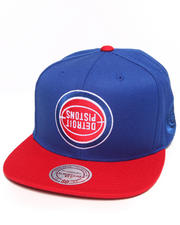Mitchell & Ness - Hall of Fame x Mitchell & Ness Detroit Pistons Upside Down Snapback Cap