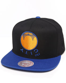Hall of Fame - Hall of Fame x Mitchell & Ness Golden State Warriors Upside Down Snapback Cap