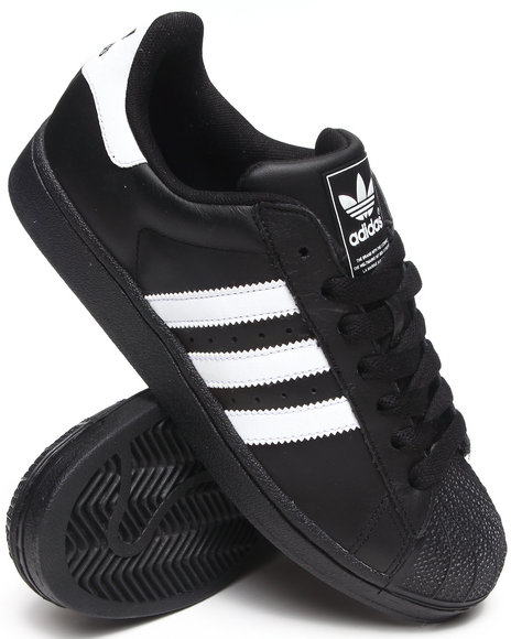 Adidas - Men Black Superstar 2 Sneakers