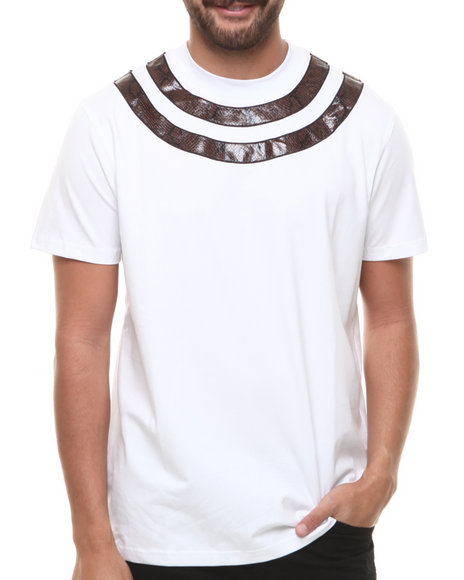 Hudson NYC White Snake Tight S/S Tee