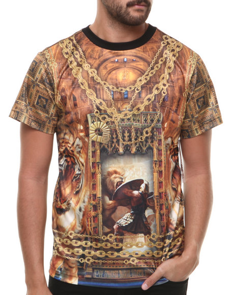 Akademiks - Men Multi Cathedral Sublimation Tee - $26.99