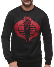 Men - Cobra Mesh Panel Crewneck Sweatshirt