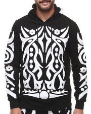 Hudson NYC - Tribal Warrior Chain - Stitch Embroidered Pullover Hoodie