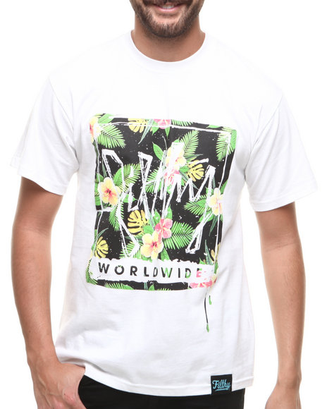 Filthy Dripped White Aloha T-Shirt