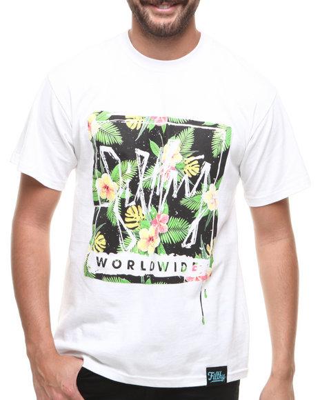 Filthy Dripped - Men White Aloha T-Shirt