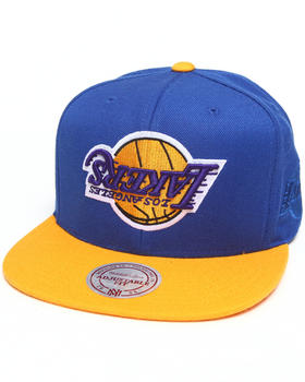Hall of Fame - Hall of Fame x Mitchell & Ness Los Angeles Lakers Upside Down Snapback Cap