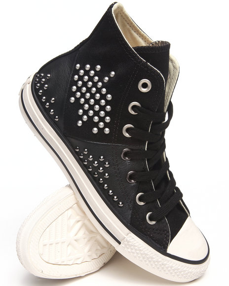 Converse - Women Black Chuck Taylor All Star Multi Panel Sneakers