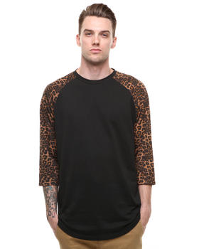 Vans - Black Cheetah 3/4 Sleeve Raglan Tee