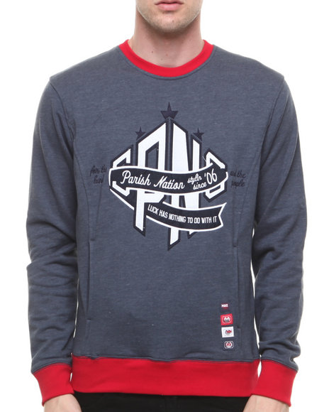 Parish - Men Navy Notre Dame Crew Sweater