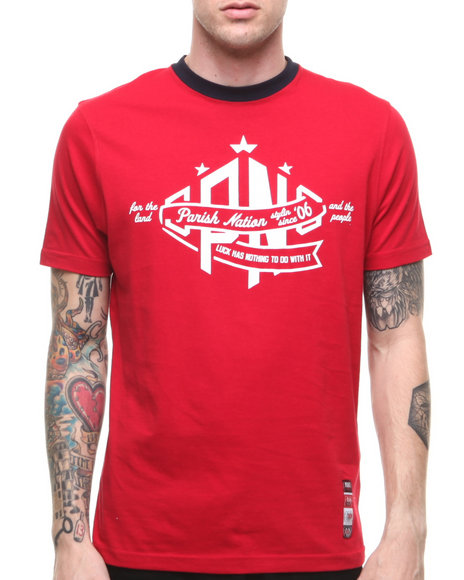Parish Red Notre Dame T-Shirt