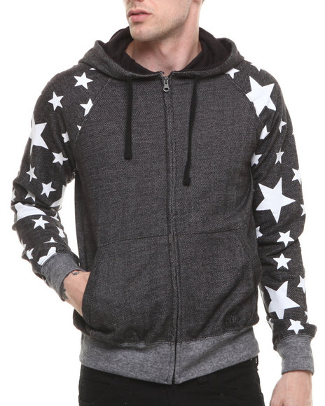 Akademiks - Men Black Jefferson Stars Hoodie
