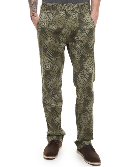 Parish Olive Serengetti Printed Twill Pant