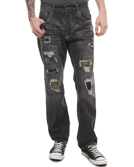 Parish - Men Black Gazelle Denim Jeans