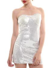 Fashion Lab - Strapless Sequin Dress w/ Sweetheart Neckline