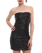 Women - Strapless Sequin Bodycon Dress