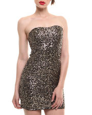 Fashion Lab - Strapless Sparkle Dress w/ Sweetheart Neckline