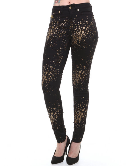 Coogi - Women Black Gold Sparkle Jeans - $18.99