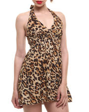 Fashion Lab - Chia Animal Printed Halter Dress