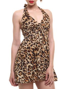 Fashion Lab - Chia Animal Printed Halter Dress
