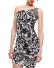 Fashion Lab - Zesty Zebra Printed One Shoulder Dress