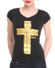 COOGI - Cross V-Neck Tee