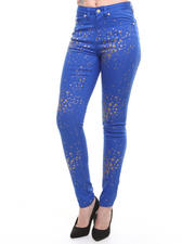 Bottoms - Gold Sparkle Jeans