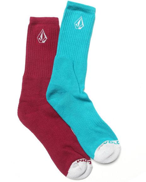 Volcom Men Mix Stone Socks Blue