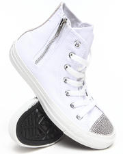 Converse - Chuck Taylor Sparkle Toe Cap All Star Side Zip Sneakers