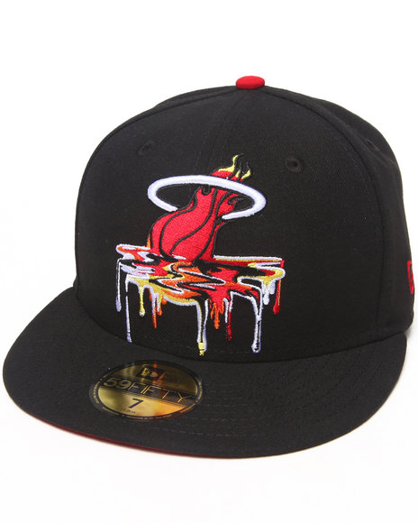 New Era - Men Black Miami Heat Spring Melt 5950 Fitted Hat