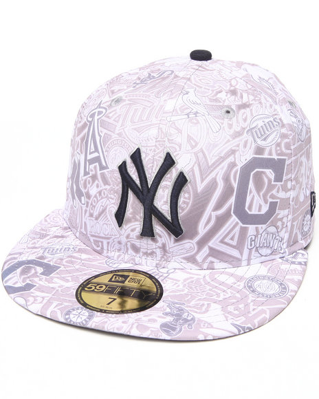 New Era Multi New York Yankees All Over 5950 Fitted Hat