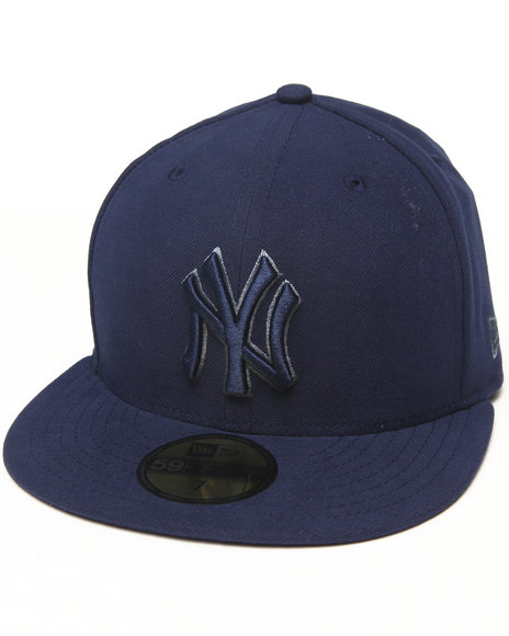 New Era - Men Blue New York Yankees Pop Gray Basic 5950 Fitted Hat