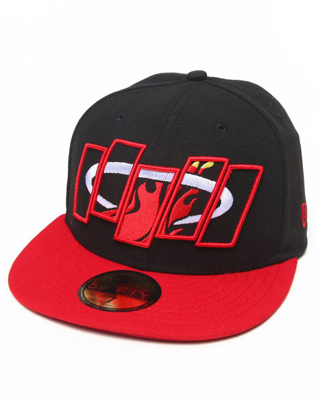 New Era - Men Black Miami Heat Fill In The Box 5950 Fitted Hat