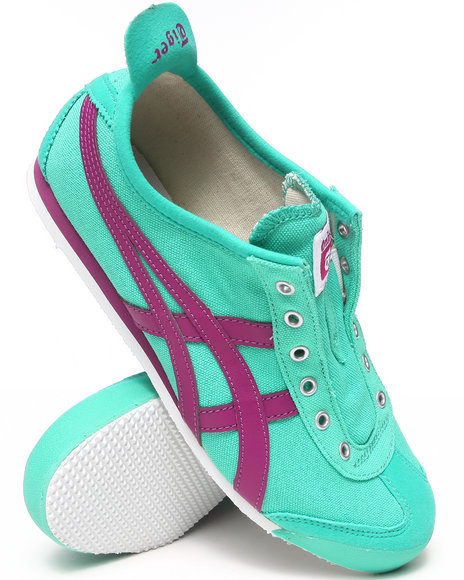 Asics - Women Teal Mexico 66 Slip On Sneakers