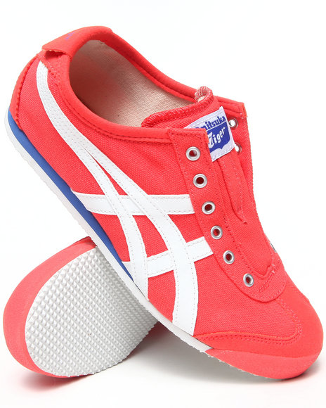 Asics - Women Coral Mexico 66 Slip On Sneakers