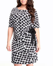 Basic Essentials - Houndstooth Printed Dress (plus)