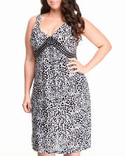 Basic Essentials - Marla Animal Print Dress (plus)