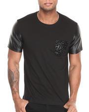 Shirts - Swinger Leopard Pattern Faux pocket S/S Tee
