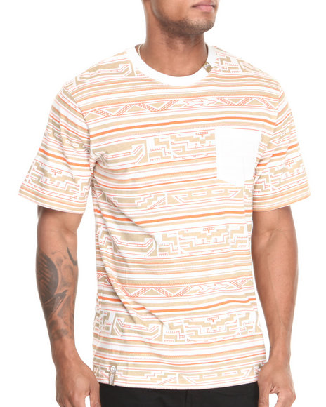 Lrg - Men Cream King Tshaka S/S Pocket Tee