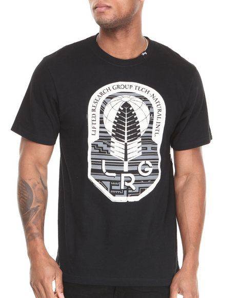 Lrg - Men Black Tech Natural Leaf S/S Tee