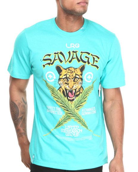 LRG Teal Savage Cats S/S Tee