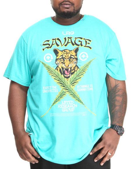 LRG Teal Savage Cats S/S Tee (Big & Tall)
