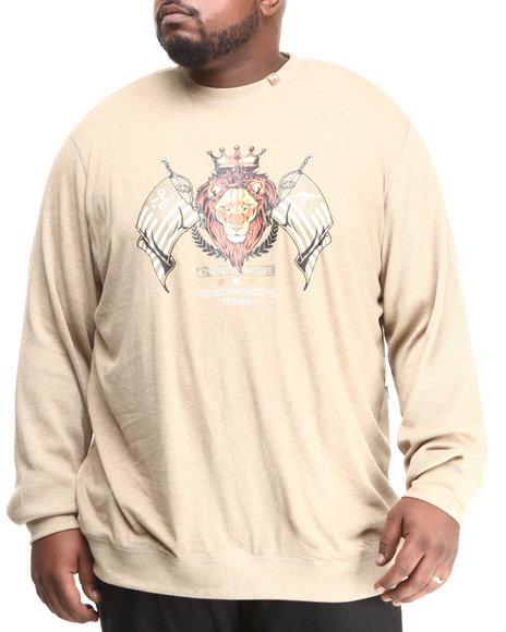 Lrg - Men Khaki Kings Of Nature Crewneck Thermal (B&T)