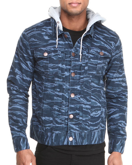 LRG - Men Navy Core Collection Cotton Twill Jacket