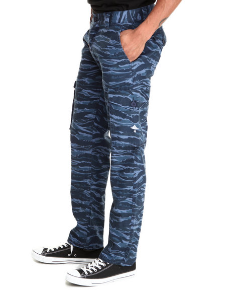 Lrg - Men Camo,Navy Core Collection Cargo True - Straight Pants